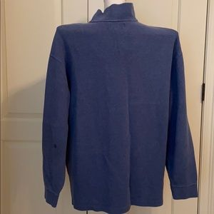 Polo by Ralph Lauren Shirts - Men's Heather Blue Tall Long Sleeve Polo Pullover